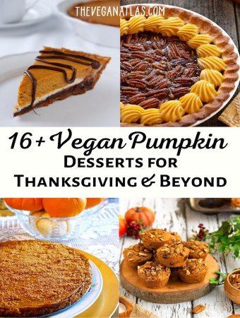 Vegan pumpkin desserts roundup