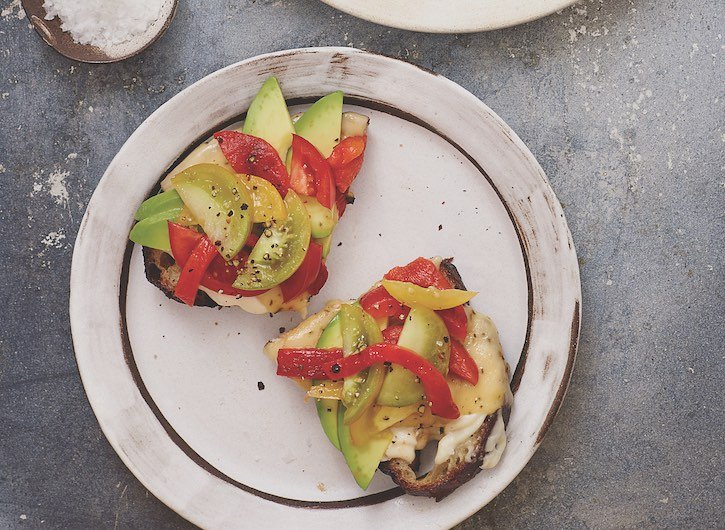 Vegenaise Avocado Tartine detail