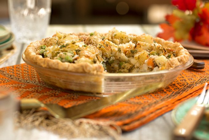 Vegan Chick'n or Chickpea Vegetable pot pie