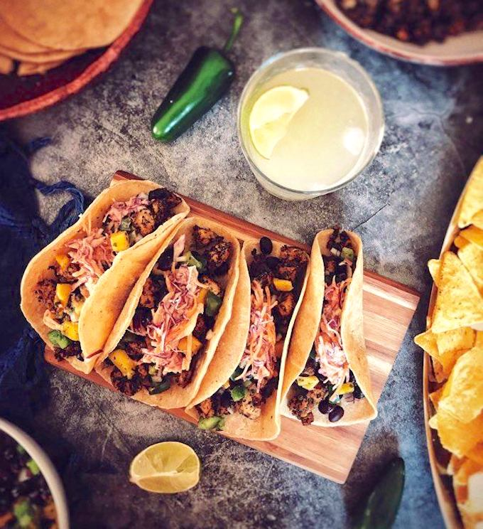vegan fish-less tacos