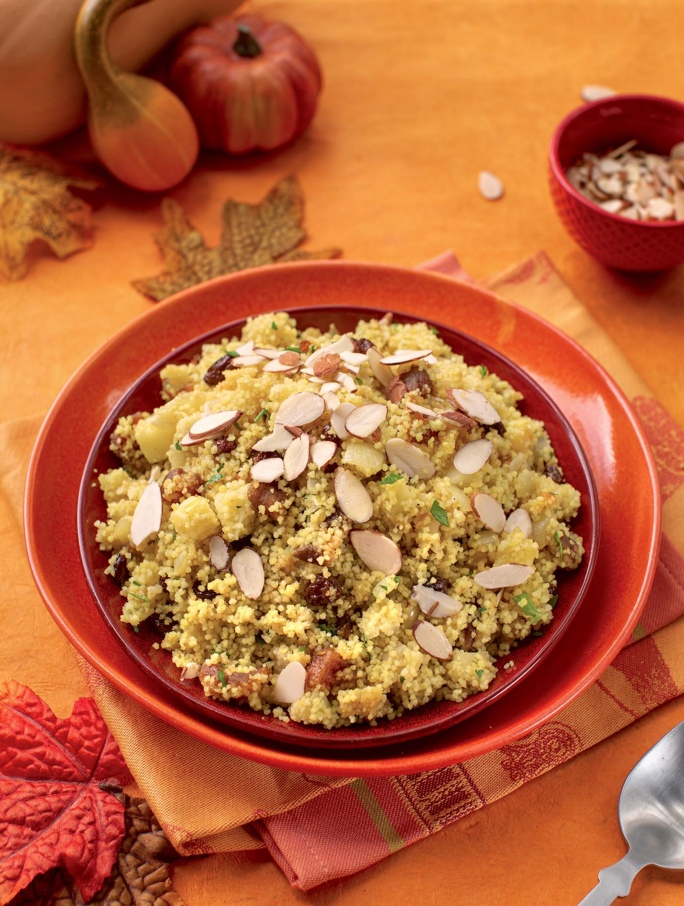 Couscous pilaf with fruits and nuts
