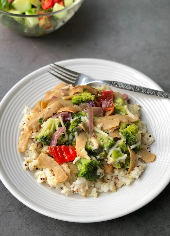 Creamy Vegan Chick'n & Broccoli