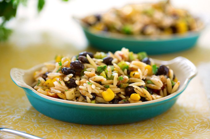 Orzo and black bean salsa salad1