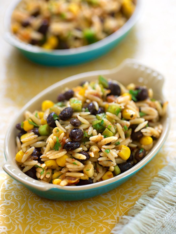 Orzo and black bean salsa salad3