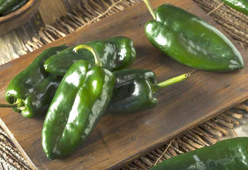 Poblano or passilla Peppers