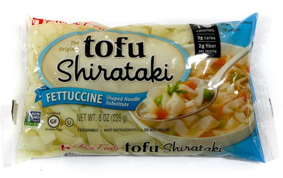 Shirataki noodles isolated