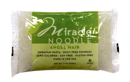 Shirataki noodles in package