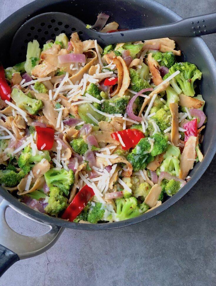 Vegan Chick'n & Broccoli skillet