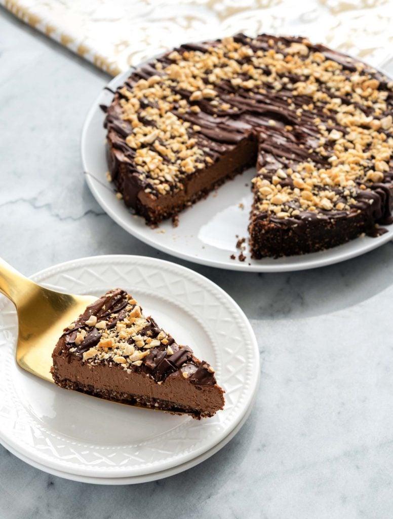 Vegan Chocolate Peanut Buttter Pie