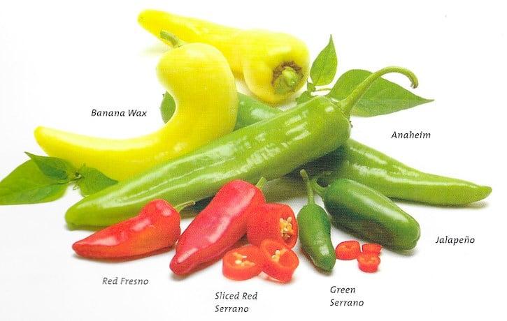 chile peppers varieties