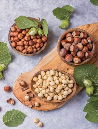 blanched, roasted, and shelled hazelnuts