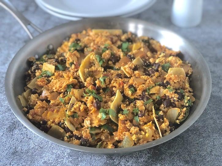Migas - vegan Southwestern tofu scramble