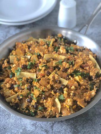 Southwestern tofu scramble- migas