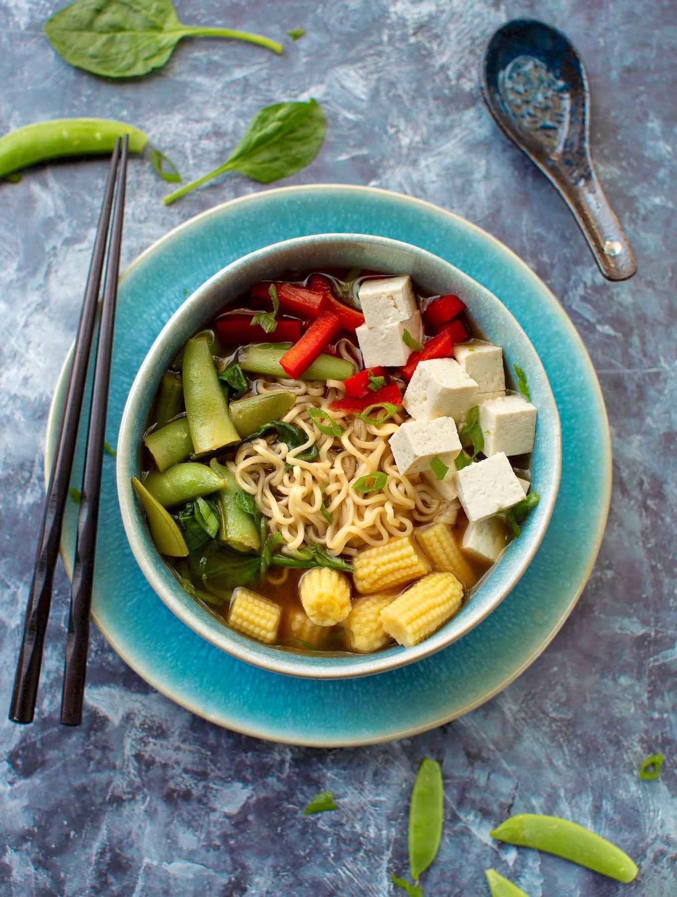 Tofu Ramen Vegetable Soup