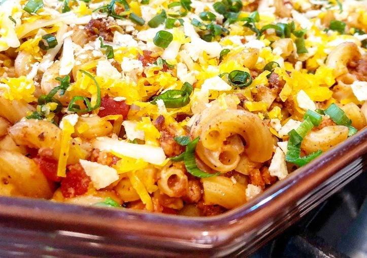Vegan Chili Mac casserole