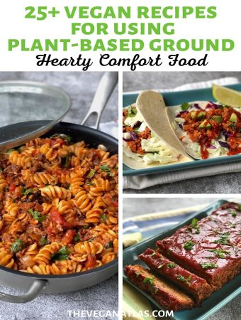 Vegan Recipes for using plant-based ground pin1