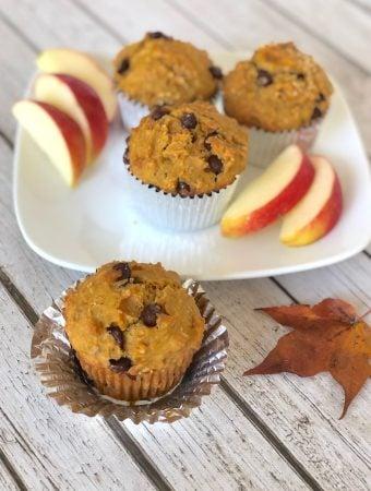 Vegan Squash or pumpkin chocolate chip muffins1