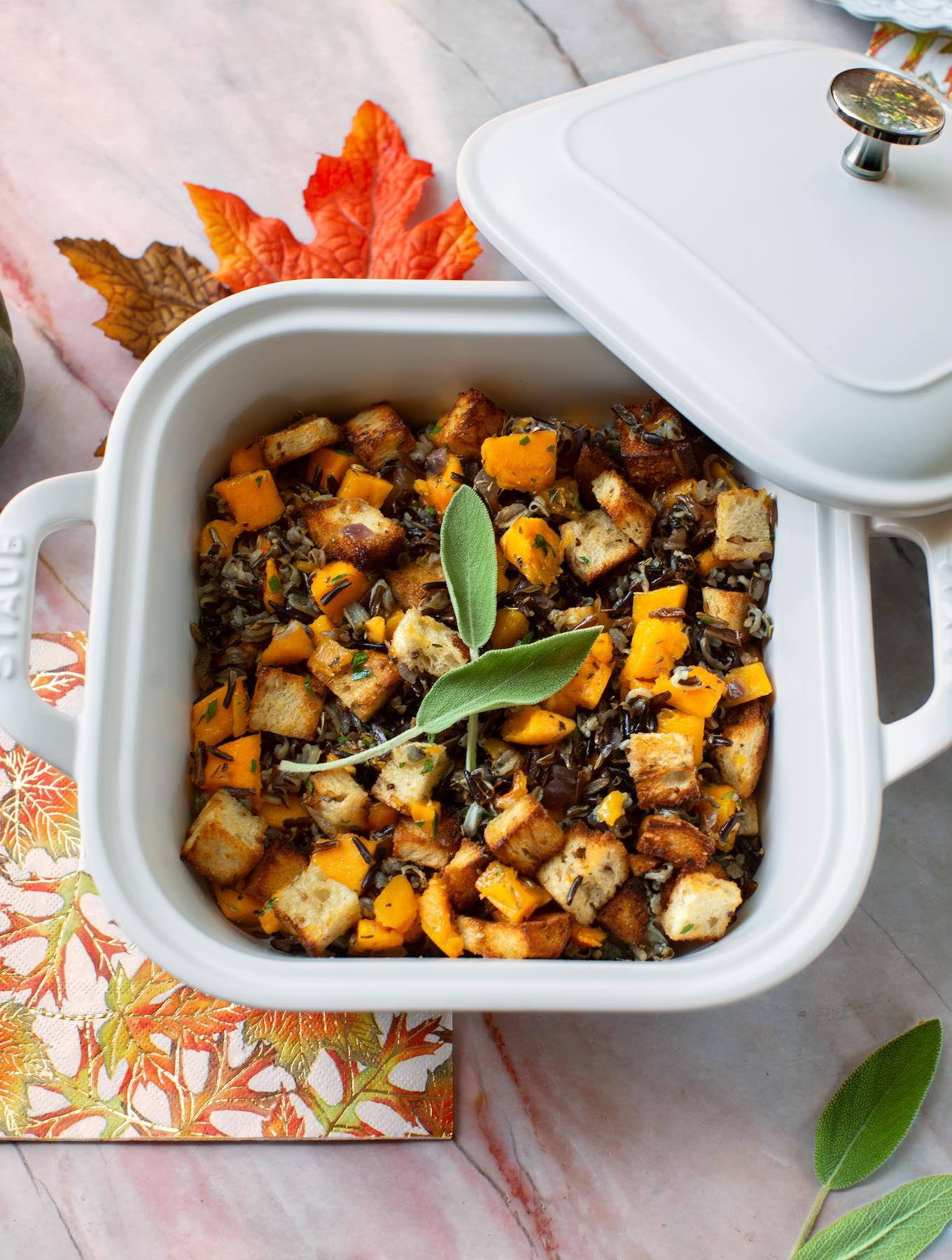 Wild rice & butternut stuffing