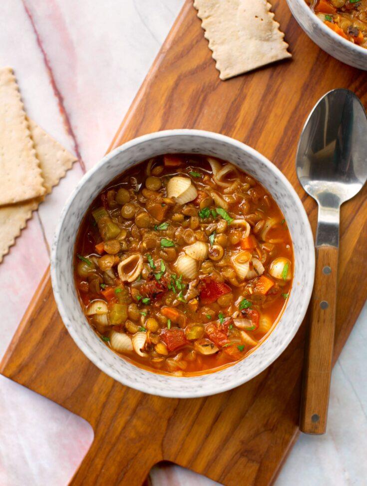 vegetable lentil vegetable soup