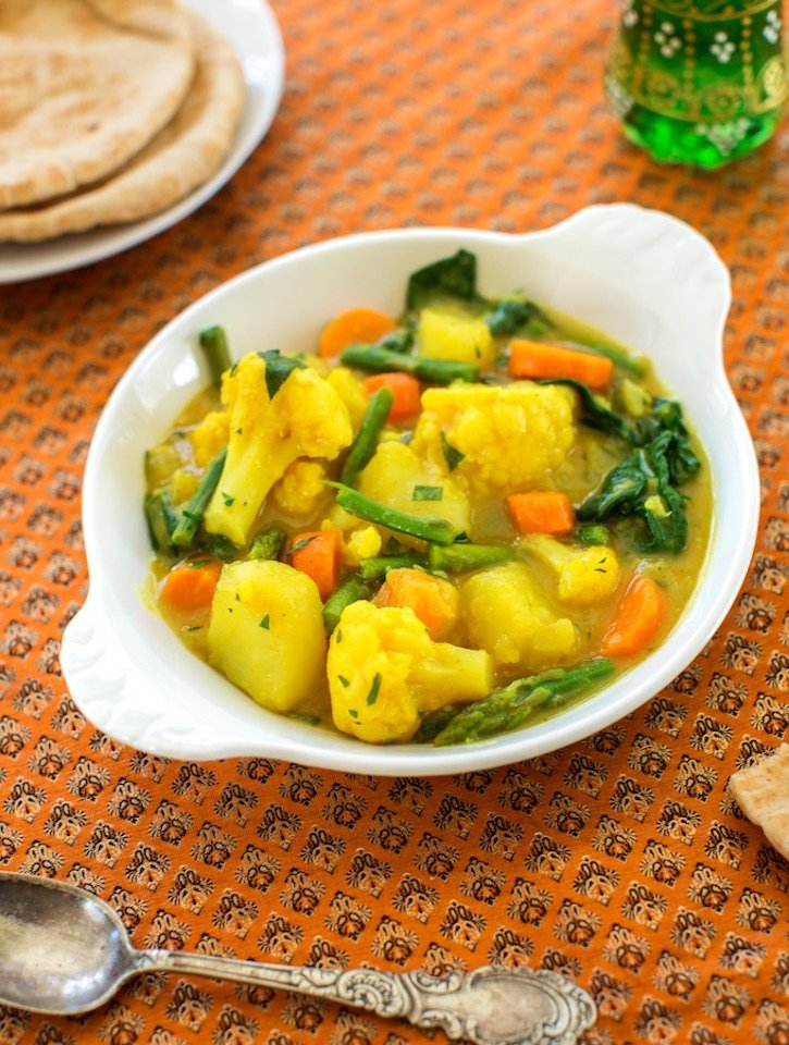Coconut curry vegetable stew1