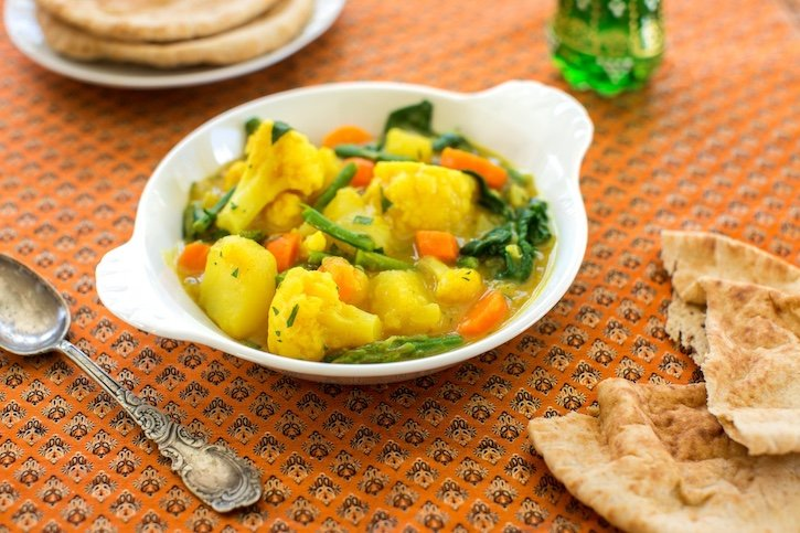 Coconut curry vegetable stew2