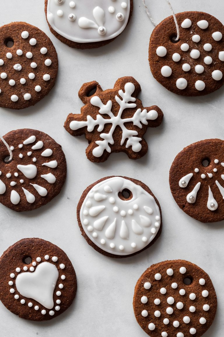 Edible Vegan Gingerbread Cookie Ornaments