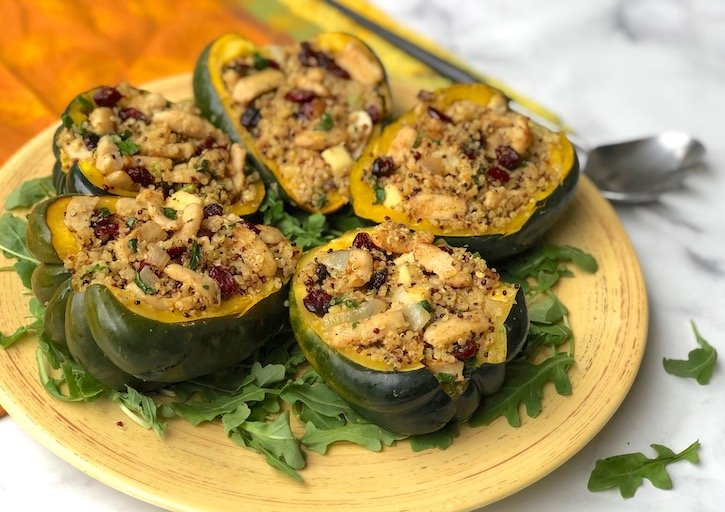 Improved Nature and quinoa stuffed squash