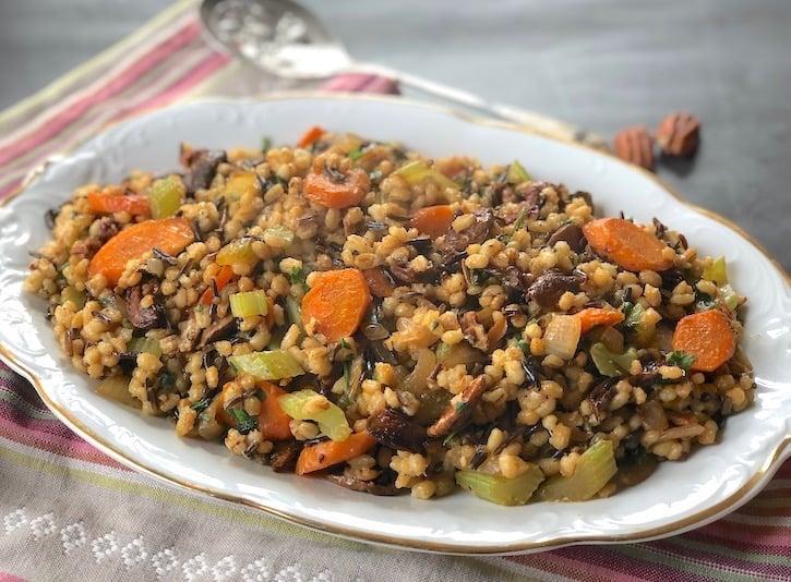 Mushroom-barley wild rice pilaf2