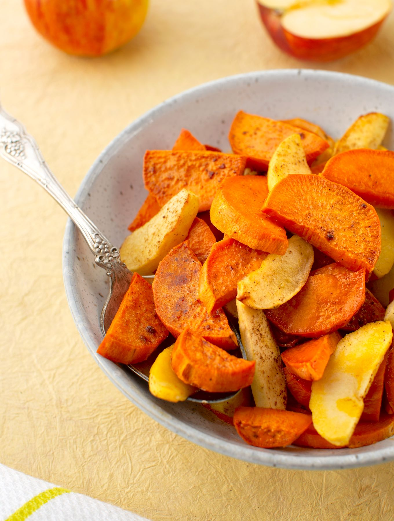 Maple Roasted sweet potatoes & apples1
