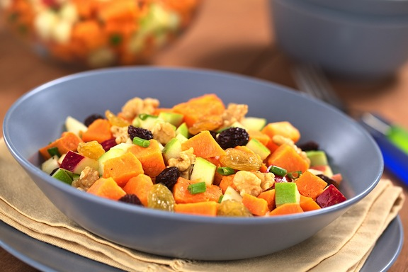 Sweet Potato and Apple Waldorf Salad