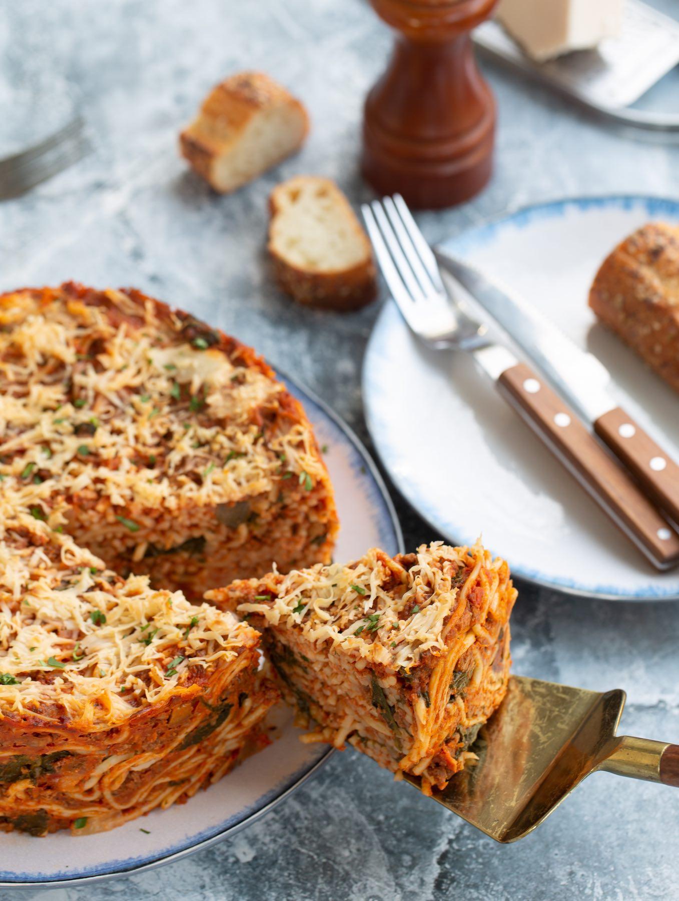 Vegan Baked Spaghetti Pie1sm
