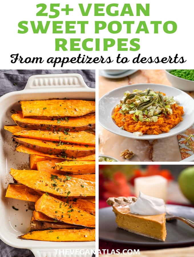 Vegan sweet potato recipes pin
