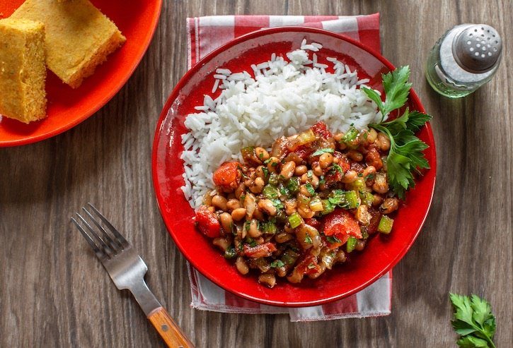 Vegan Hoppin' John inspired by a traditional southern recipe