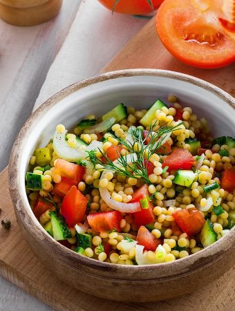 Israeli Salad with Pearl Couscous