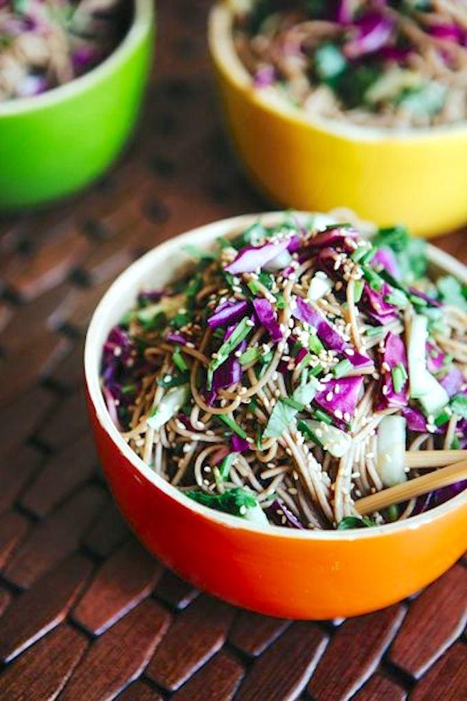 Quick soba noodle salad