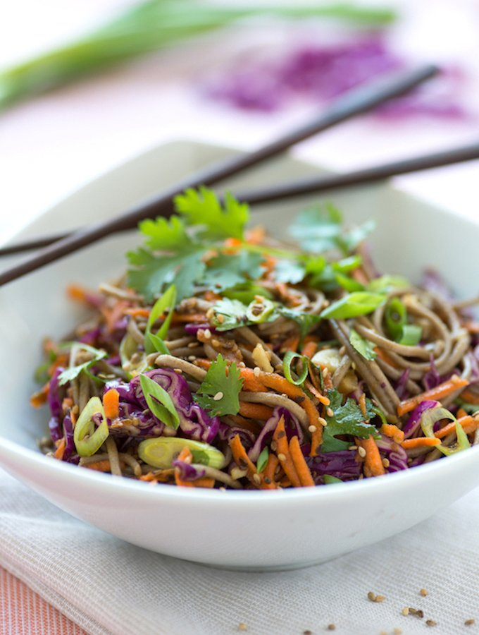 Sesame Soba Salad with carrots Josie Grant