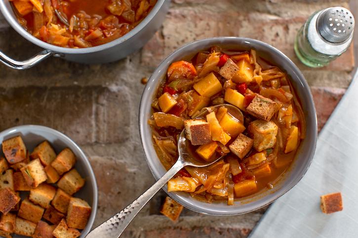 Vegan Sweet & Sour Cabbage Soup