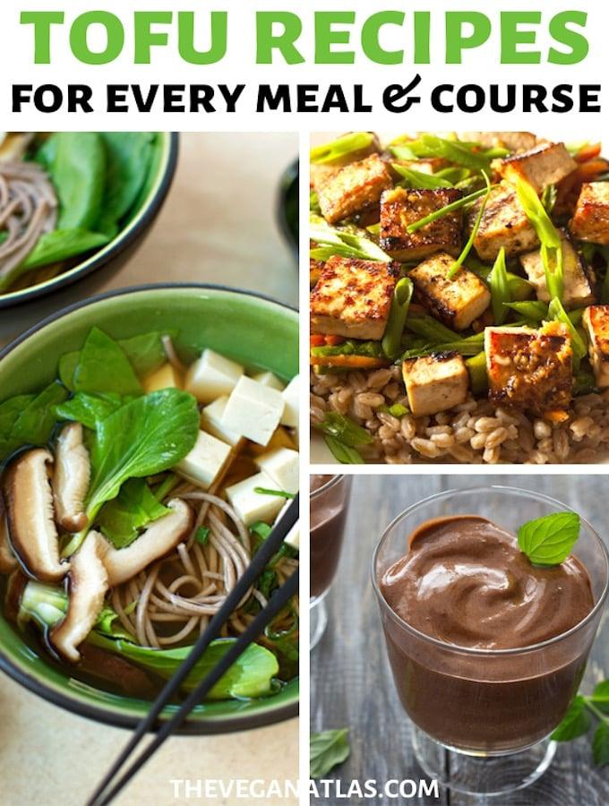 Tofu recipes roundup graphic