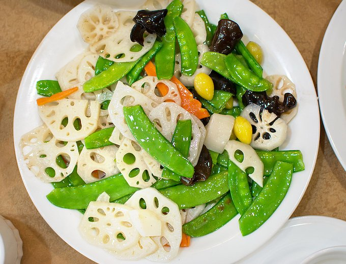 Lotus Root and vegetable stir-fry
