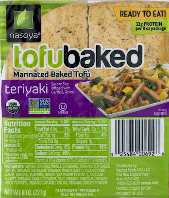Nasoya Tofu Baked marinated teriyaki