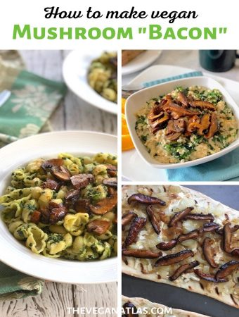how to make vegan mushroom bacon graphic