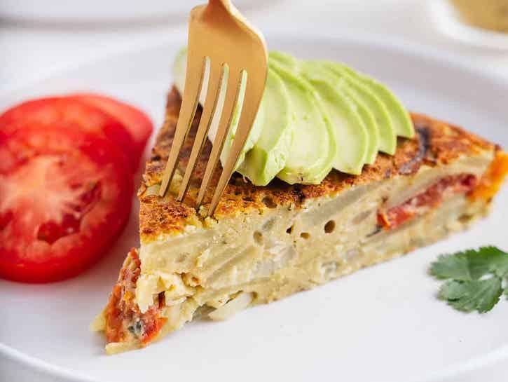 Spanish-style vegan Chickpea Omelette