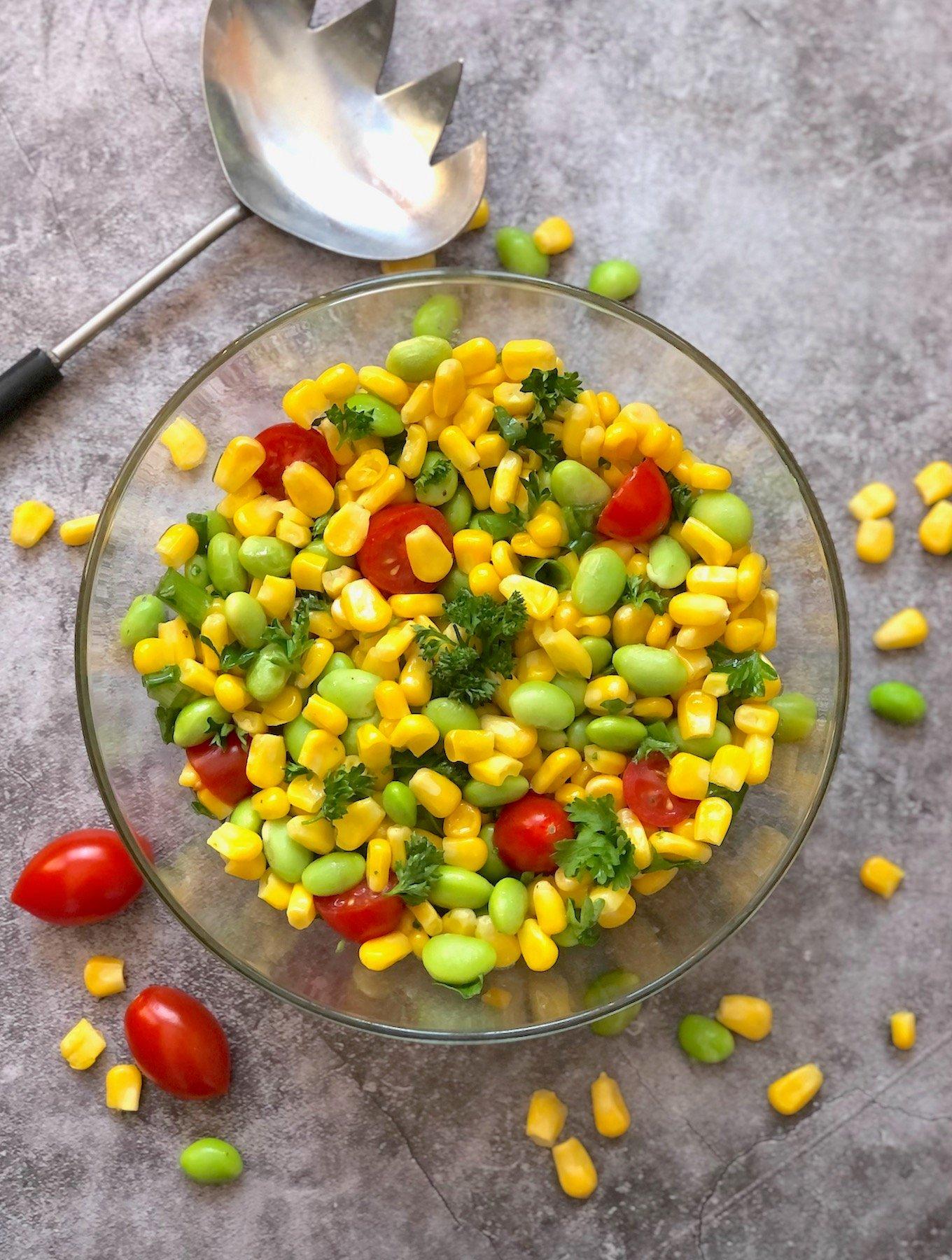 Corn and edamame succotash1