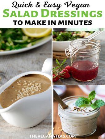 Easy vegan salad dressings graphic