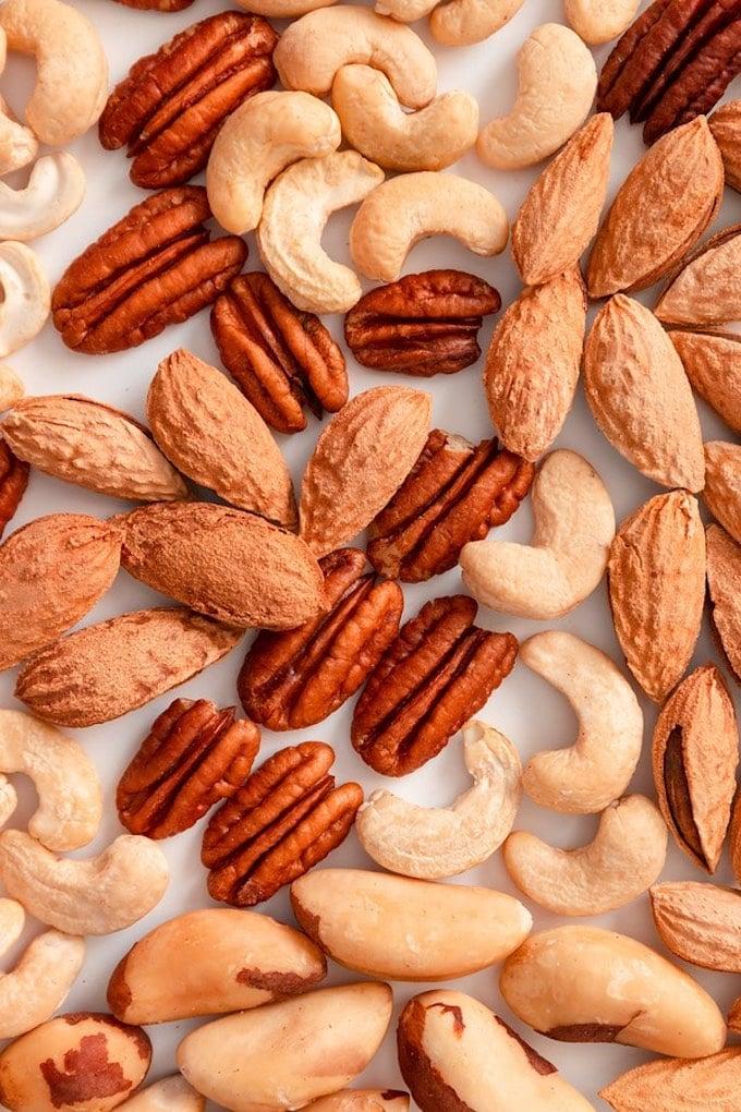 Mixed nuts — nut varieties