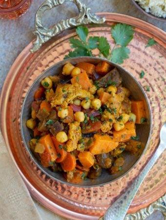 Vegan Moroccan Chick'n Stew