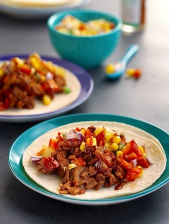 Pulled Protein Tacos with Corn-Pineapple Salsa2