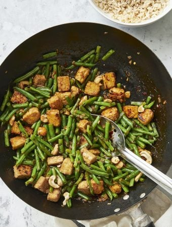 Spicy Green Bean and Tempeh Stir-fry