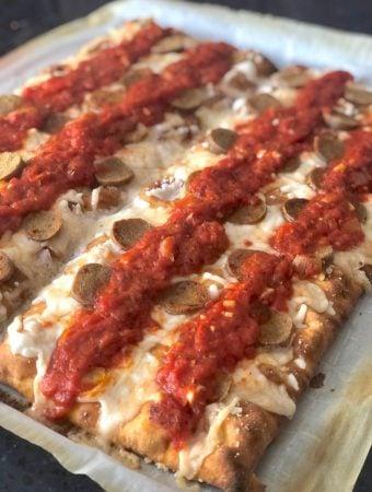Vegan Detroit-Style Pizza