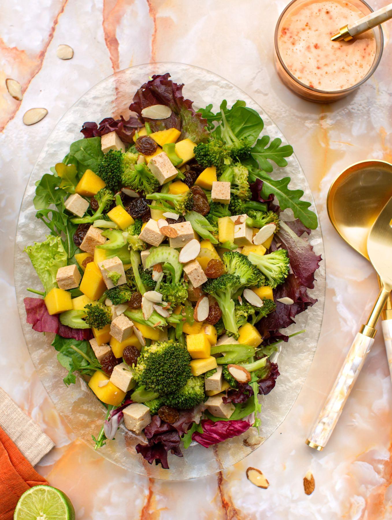 Broccoli and Baked Tofu salad